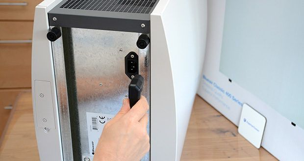 BLUEAIR Luftreiniger Classic 480i im Test - geringer Energieverbrauch (auf Stufe 1 nur 15W)