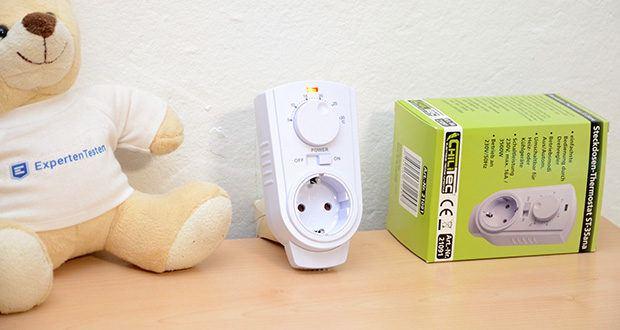 Chilitec Steckdosen-Thermostat ST-35 ana im Test - dieser Zwischenstecker ermöglicht Ihnen das temperaturgesteuerte Schalten sowohl von Heiz- wie auch von Klimageräten