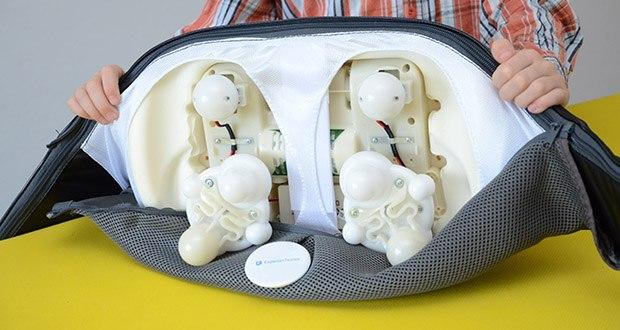 Donnerberg Klopfy NM-088 Nackenmassagegerät im Test - acht Massageköpfe zur Shiatsu- und zwei zusätzliche zur Klopfmassage aus hochwertigem Kunststoff gleiten flexibel und tiefdringend über die zu massierenden Stellen und geben Ihnen das Gefühl einer echten Handmassage