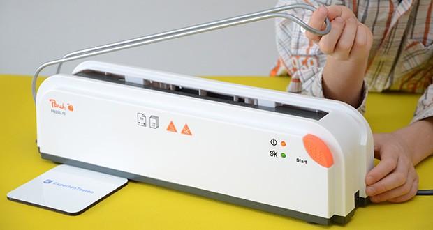 Peach Thermobindegerät PB200-70 im Test - damit eignet es sich ideal zum gleichzeitigen Binden von bis zu 10 Dokumentenmappen