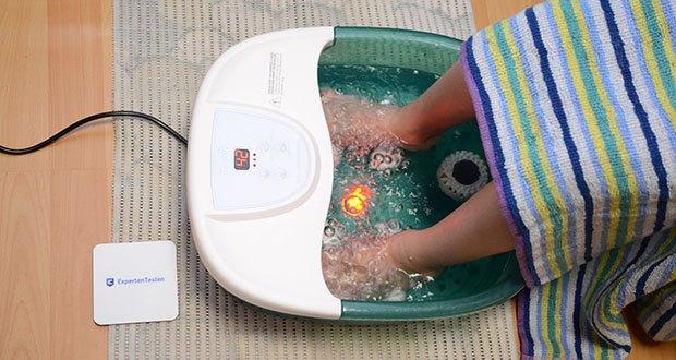 Turejo Fußbad mit Vibration im Test - das restaurative Spa hilft, Stress abzubauen und das Wohlbefinden zu verbessern