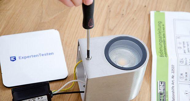 Chilitec LED-Wandleuchte CTW-1 im Test - Spritzwassergeschützt IP44