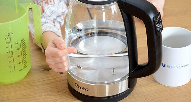 DECEN Glaswasserkocher mit Temperatureinstellung im Test - große Kapazität und schnelle Erwärmung