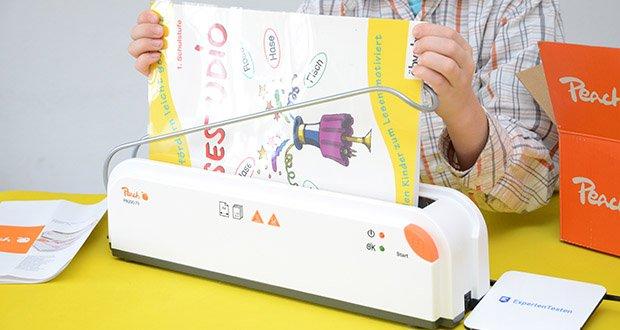 Peach Thermobindegerät PB200-70 im Test - legen Sie Ihre Dokumente einfach in eine passende Bindemappe, dann in das Gerät und los geht`s