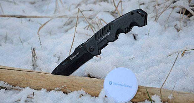 BERGKVIST K10 Zweihandmesser Taschenmesser im Test - ob als Angel, Camping oder Wander Zubehör, das BERGKVIST Messer lässt sich gut als Schnitzmesser, Gemüsemesser oder auch Fleischmesser nutzen und sollte bei keiner Überlebensausrüstung fehlen