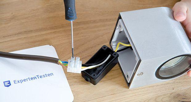 Chilitec LED-Wandleuchte CTW-1 im Test - Betrieb an 230V/50Hz~