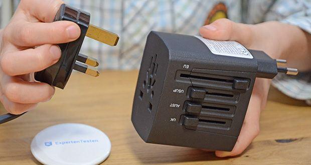 Welt-Reiseadapter mit 4x USB-Ladegerät im Test - Adapter für 150 Länder