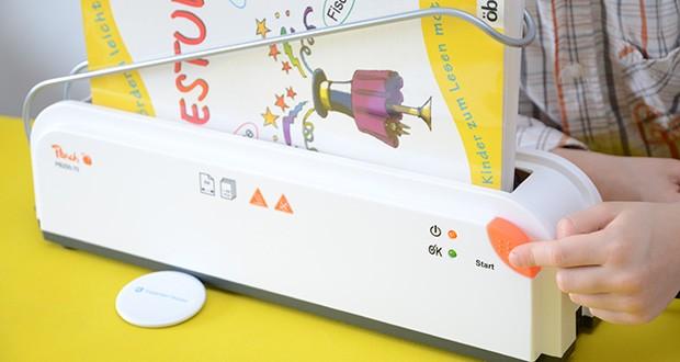 Peach Thermobindegerät PB200-70 im Test - dank der einfachen Ein-Knopf Bedienung und dem optischen und akustischen Bereitschaftszeichen ist das Gerät einfach im Handling