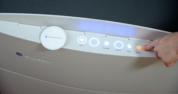 BLUEAIR Luftreiniger Classic 480i im Test - elektronische Erkennung von Schadstoffe