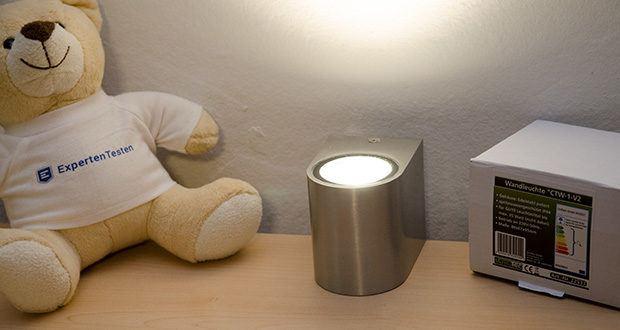 Chilitec LED-Wandleuchte CTW-1 im Test - Gesamtlänge max. 58mm