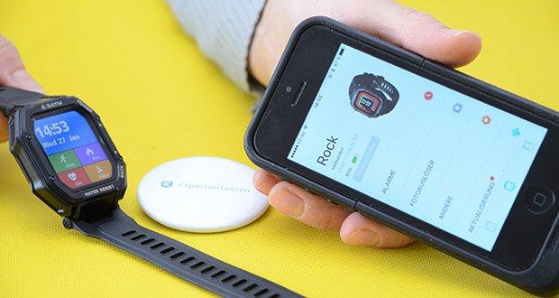 KOSPET Rock Smartwatch im Test - App: Da Fit (Android 5.1 oder höher; iOS 10.0 oder höher)