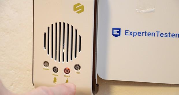ONE SANTI Ultraschall Schädlingsbekämpfer im Test - dank des hochwertigen 360 Grad Lautsprechers im Inneren, werden die Schädlinge nachhaltig vertrieben