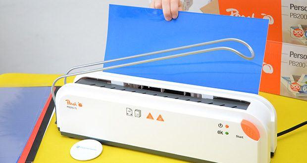 Peach Thermobindegerät PB200-70 im Test - mit einer Bindezeit von einer Minute haben Sie Ihre lose Blattsammlung im Nu zu einem professionell aussehenden Dokument zusammengeheftet