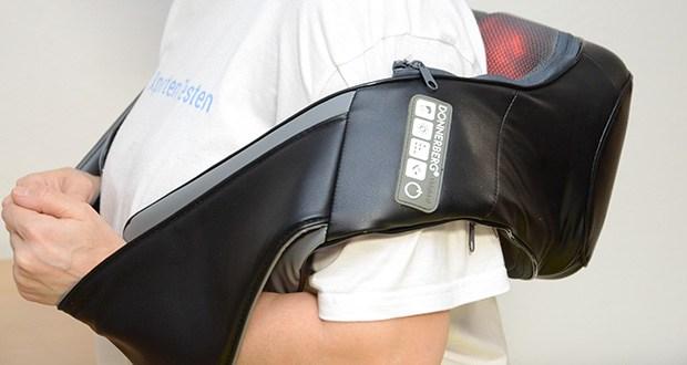 Donnerberg Klopfy NM-088 Nackenmassagegerät im Test - die wohltuende Infrarotwärme und 10 flexible Massageköpfe verleihen Ihnen das Gefühl einer natürlichen Handmassage