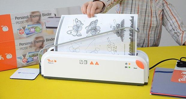 Peach Thermobindegerät PB200-70 im Test - schnelles und einfaches Binden Ihrer Dokumente ohne anstrengendes und umständliches einfädeln
