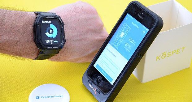 KOSPET Rock Smartwatch im Test - Blutdruckmessgerät-Funktion