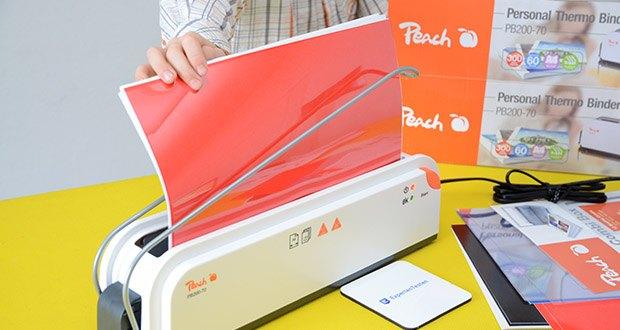 Peach Thermobindegerät PB200-70 im Test - das Thermobindesystem verleiht den Dokumenten ein professionelles Aussehen