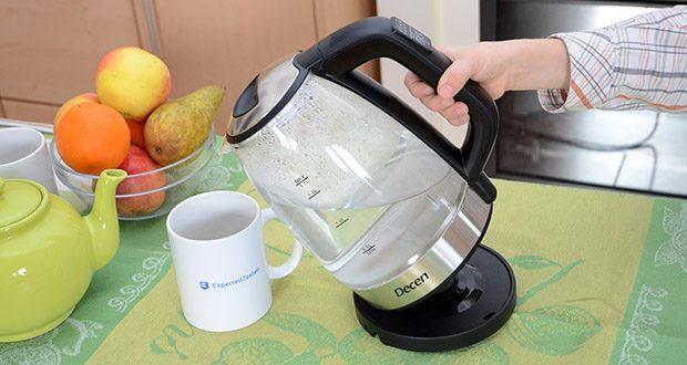 DECEN Glaswasserkocher mit Temperatureinstellung im Test - perfekt für eine große Familie mit mehr als 8 Mitgliedern