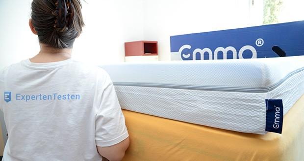 Emma Two Matratze 90x200cm im Test - durchdachte Zonierung; stützender HRX-Schaum; atmungsaktiver Bezug; Antislip-Beschichtung