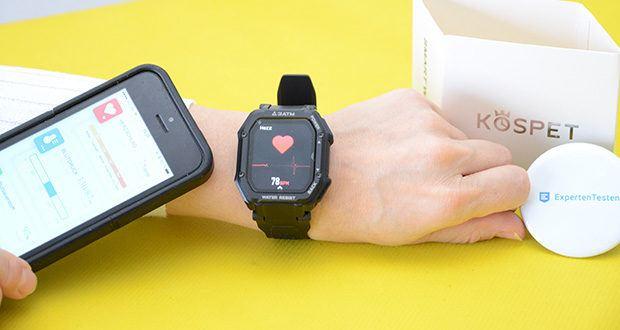 KOSPET Rock Smartwatch im Test - verfolgen Sie Ihren Fitnessfortschritt den ganzen Tag, kennen Sie Ihren Gesundheitsstatus jederzeit