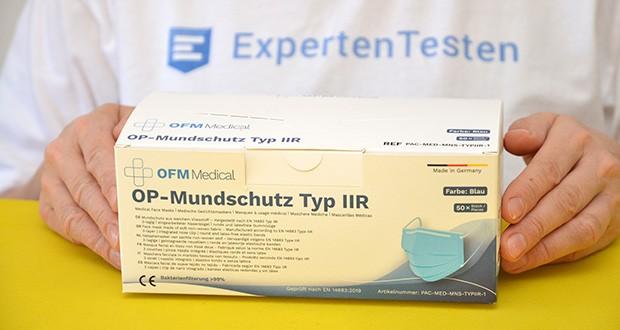 OFM Medical OP-Maske Typ IIR im Test - zertifiziert nach DIN EN 14683:2019 TYP IIR
