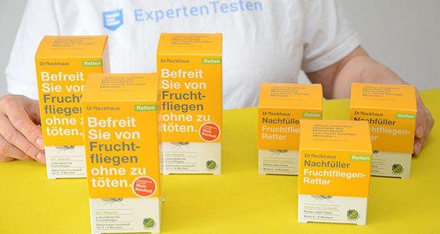 Dr. Reckhaus Fruchtfliegen-Retter mit Nachfüller im Test - Lebendfalle für Fruchtfliegen