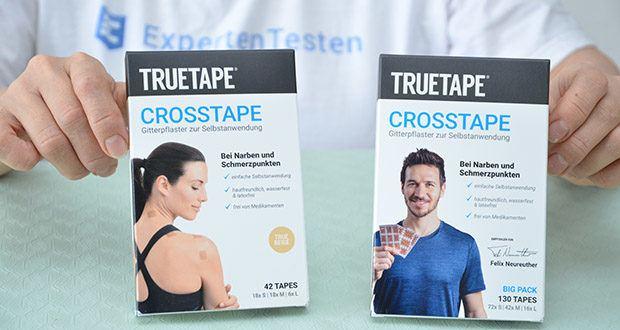 Truetape Crosstapes Pflaster im Test - Crosstapes sind Pflaster in einer speziellen Gitterform die direkt auf Triggerpunkte/Schmerzpunkte auf der Haut geklebt werden z.B. an Muskeln, Sehnen oder Bändern
