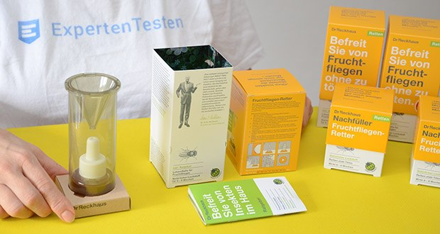 Dr. Reckhaus Fruchtfliegen-Retter mit Nachfüller im Test - pro verkauftem Produkt werden 10 Cent direkt in die Insektenförderung investiert
