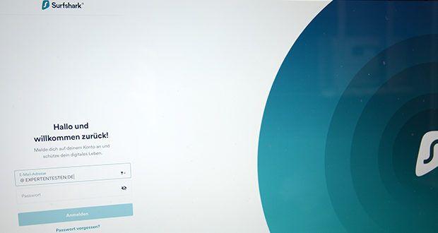 Surfshark VPN im Test - registriere dich für ein Surfshark-Konto. Eines ist ausreichend für alle deine Geräte!