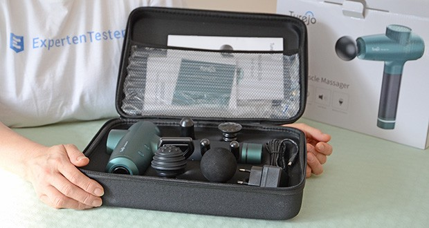 Turejo Massagepistole im Test - die Standby-Zeit beträgt 90 Tage; Einladung: 4-6 Stunden; Betriebszeit: 4-6 Stunden