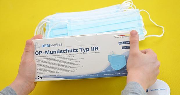 OFM Medical OP-Maske Typ IIR im Test - wird in Deutschland hergestellt und gelagert