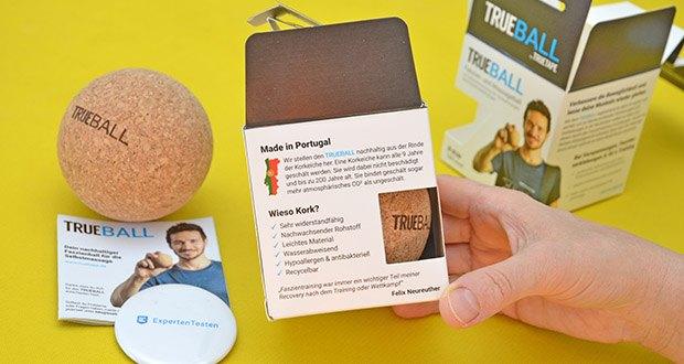 Truetape Trueball Faszienball im Test - nachhaltig produziert in Portugal