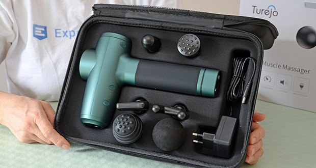 Turejo Massagepistole im Test - 20-Gang-Einstellungen ist für die meisten Körperteile geeignet