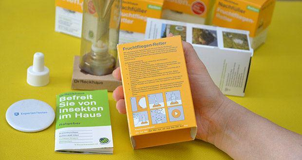 Dr. Reckhaus Fruchtfliegen-Retter mit Nachfüller im Test - Anwendungszeitraum: April bis November