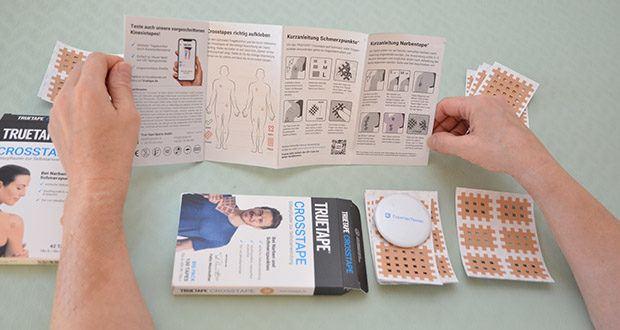 Truetape Crosstapes Pflaster im Test - für die Verwendung auf Narben ist wichtig, dass die Wunde sauber und bereits geschlossen ist