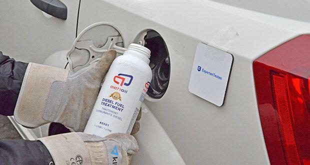 Actioil A550 Dieselpower im Test - wird beim Tankvorgang an der Tankstelle einfach mit hinzugegeben