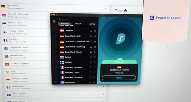 Surfshark VPN im Test - 3200+ Server in 65 Ländern