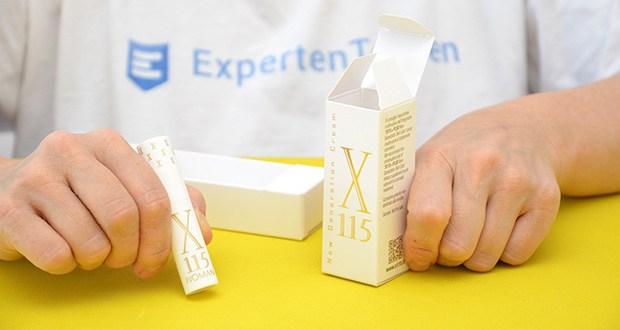 X115 +Plus Marine Kollagen im Test - mit Gratisprobe Fläschchen zu 5ml Anti-Falten-Creme X115
