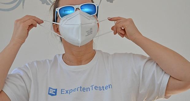 OFM FFP2 Atemschutzmasken im Test - Nasenbügel mit Polsterung in der Innenseite für einen hohen Tragekomfort, besseres Abdichten an der Nase, Reduziertes Beschlagen der Brille