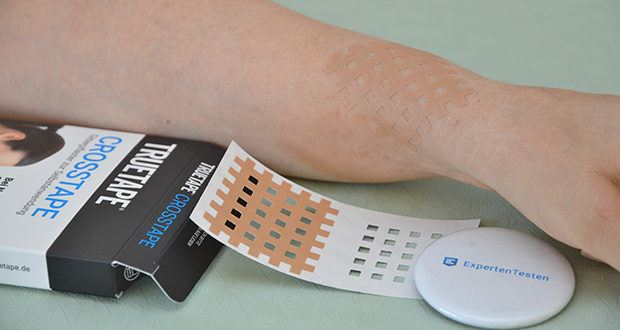 Truetape Crosstapes Pflaster im Test - in wenigen Minuten angewendet, genau wo du es brauchst