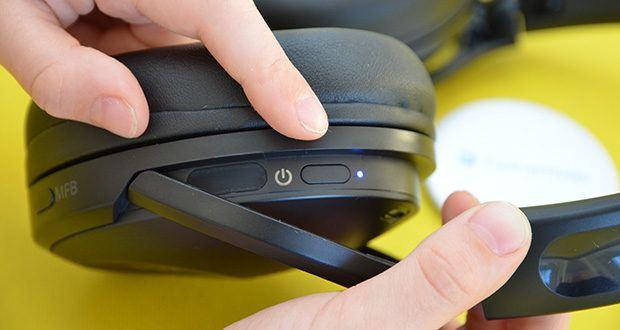 Bluetooth Kopfhörer Tronsmart Apollo Q10 im Test - durch die vollständig verbesserte Steuerung des Berührungssensors können verschiedene Funktionen wie Wiedergabe / Pause / Überspringen von Titeln, Lautstärkeregelung, Umschalten der drei Modi, Aktivieren des Sprachassistenten und Beantworten / Beenden / Ablehnen von Anrufen erreicht werden