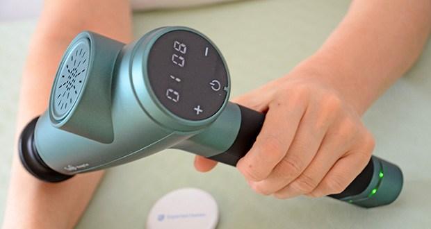 Turejo Massagepistole im Test - dank seines LCD-Bildschirms ist die Massagepistole auch für ältere Menschen einfach zu bedienen