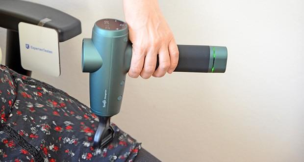 Turejo Massagepistole im Test - Sie können die Intensität ändern, indem Sie mehr oder weniger Druck ausüben, um den besten Massageeffekt zu erzielen
