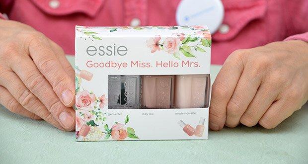 """Essie Nagellack-Geschenkset """"Goodbye Miss. Hello Mrs."""" Im Test - in liebevoll designtem Geschenkkarton"""