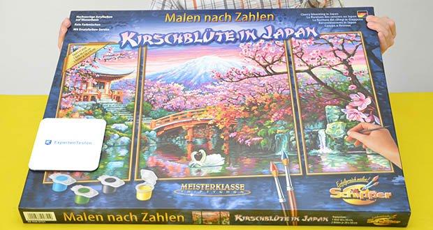 Schipper Malen nach Zahlen, Kirschblüte in Japan im Test - bringen Sie die Kirschblüte aus Japan, durch das Gemälde, zu sich nach Hause