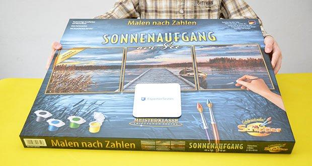Schipper Malen nach Zahlen, Sonnenaufgang am See im Test - bringen Sie die dieses wunderschöne Motiv in Ihr Wohnzimmer