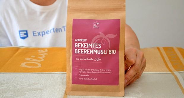 Wacker Gekeimtes Beerenmüsli Bio im Test - Natürliche Proteinquelle