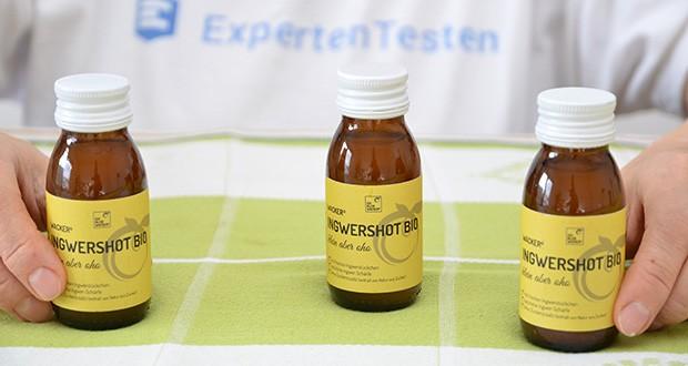 Wacker Ingwershot Bio im Test - hier steht der Ingwer mit all seinen wertvollen Inhaltsstoffen im Vordergrund