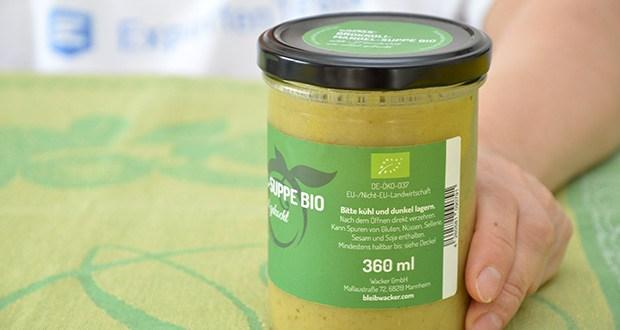 Wacker Brokkoli-Mandel-Suppe Bio im Test - wird zu 100% aus naturbelassenen Bio-Zutaten hergestellt und kommt hervorragend ohne tierische Produkte aus