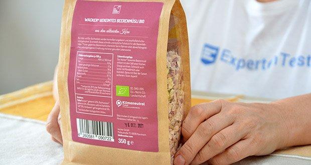 Wacker Gekeimtes Beerenmüsli Bio im Test - Bio: DE-ÖKO-005